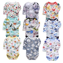 100% cotton newborn bodysuit baby babies bebes clothes long sleeveprinting infant clothing 0-24 Months