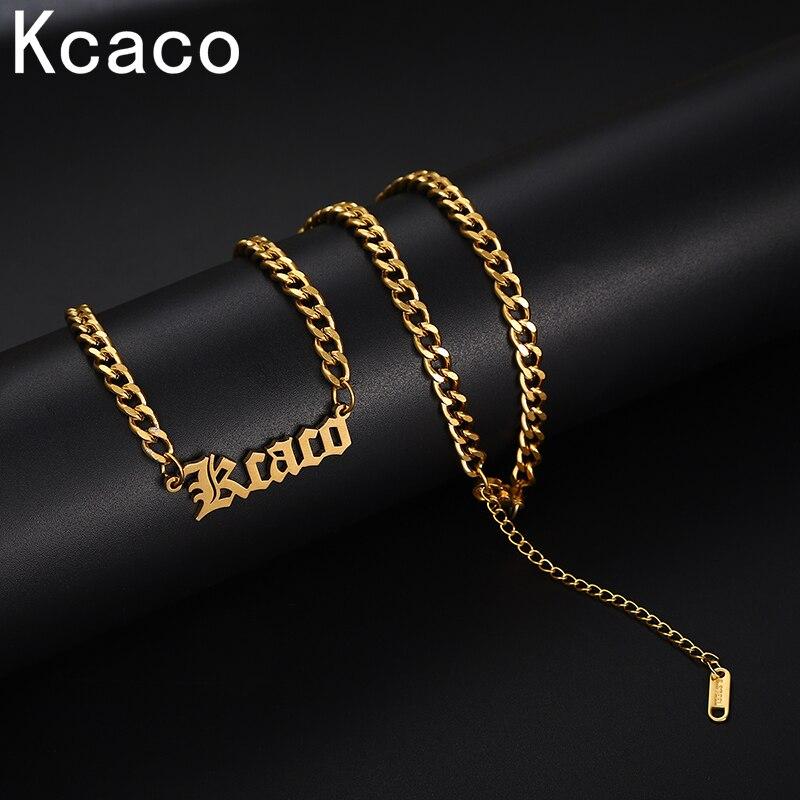 Personalized Name Halskette Anhänger Gold Farbe 4mm Kubanischen Kette Für Männer Angepasst Typenschild Handgemachte Geschenke