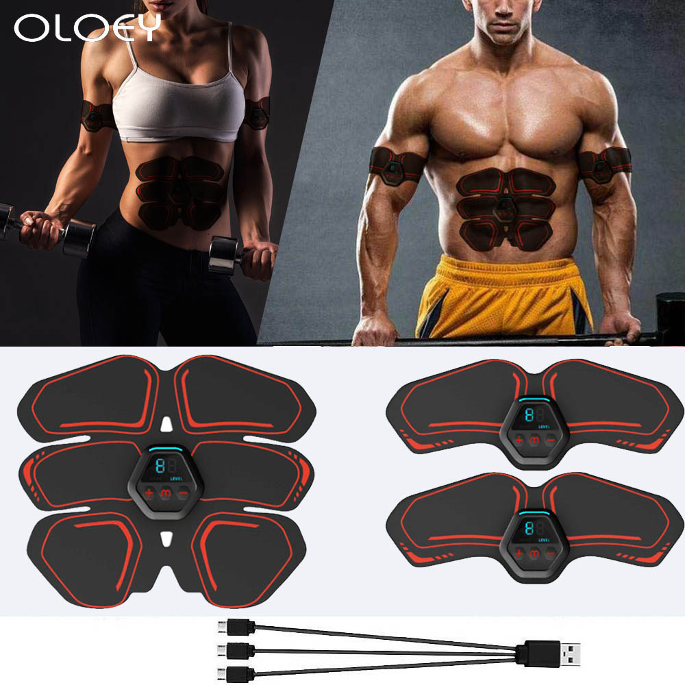 Workout Abdominal Muscle Trainer Electric Press Stimulator Slimming Fitness Exercise Machine Home Gym Fitness Equipment Training