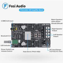 Fosi Audio Bluetooth 5.0 carte amplificateur 2.0 canaux Mini Audio stéréo sans fil haute puissance numérique 3.5mm AUX Module d'ampli 50W x2