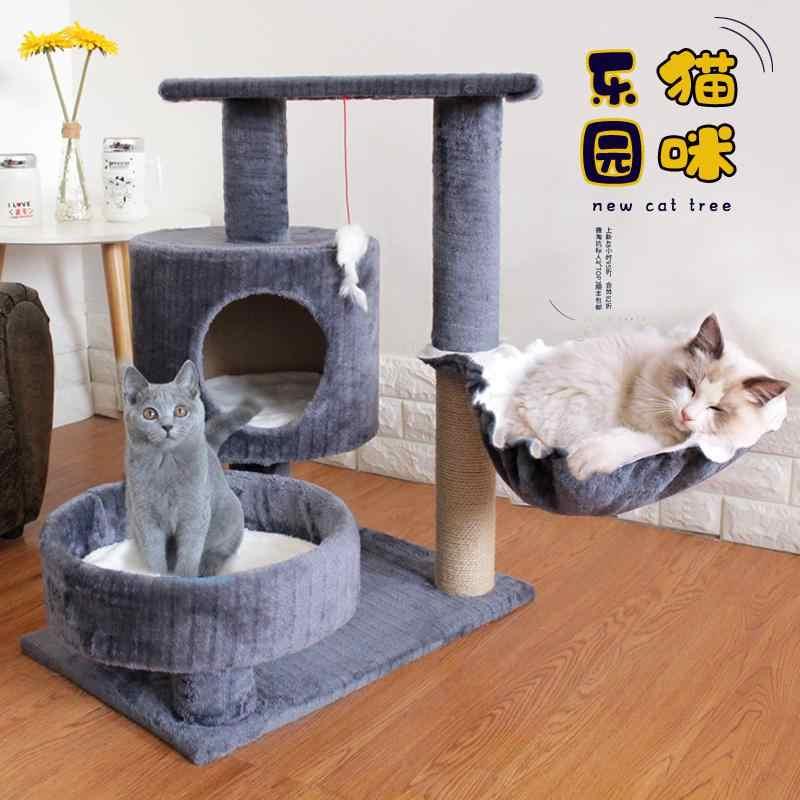 고양이 단단한 나무 용품 사계절 고양이 등반 프레임 고양이 둥지 나무 둥지 플랫폼 고양이 집 통합 잡아 포스트 보드