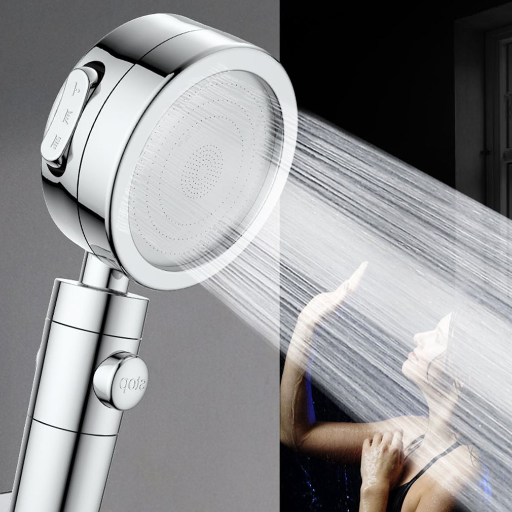 Bathroom Spa Shower Head Sprinkler Stop Water Switch Handheld Shower Pressurized Showers With Filter Cotton