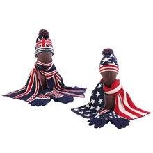 Мода для взрослых; Зимние 3 шт Британский британский флаг США