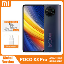 Versión Global POCO X3 Pro NFC 6GB 128GB / 8GB 256GB Smartphone Snapdragon 860 de 120Hz DotDisplay 732G 48MP Cámara 5160 batería