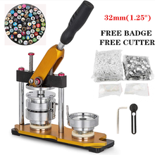 Button-Making-Machine Badge-Maker Button-Mould with 100pcs Pin Bage-Free Paper-Cutter