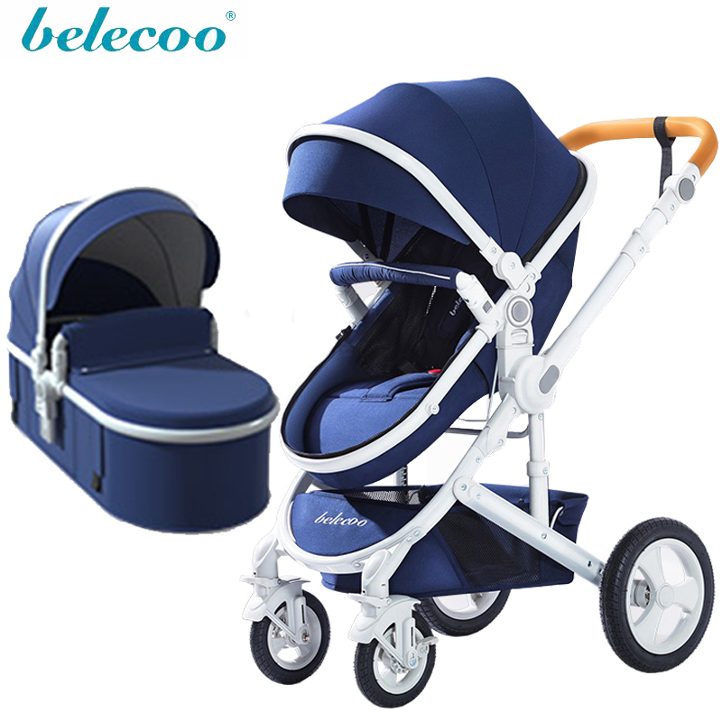 Belecoo Stroller 2 In 1 High Landscape Two Way Stroller Russian Free Shipping