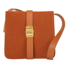 WOONAM Vrouwen Mode Handtas Echt Suède Kalfsleer Fall Winter Messenger Cross Body Schoudertas WB1100(China)