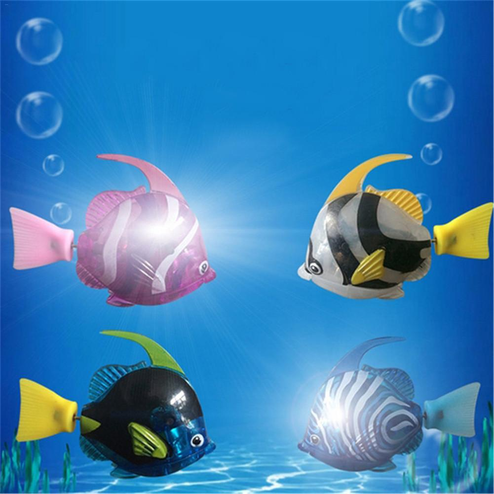 1pc Children Electronic Toy Interesting Light Sensing Simulation Fish Baby Swim Bath Toys Magical Electric Toy Kid Brain Game