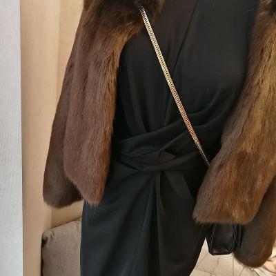 2020 New Style High-end Fashion Women Faux Fur Coat S96