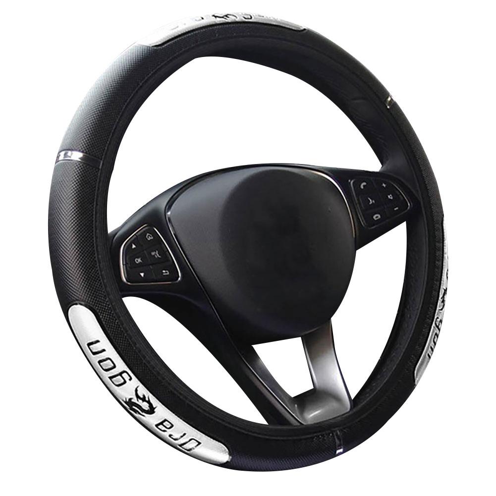 38cm Car Steering Wheel Cover Breathable Anti Slip Faux Leather Car Steering Wheel Cover Interior Decor Auto Decoration Pakistan