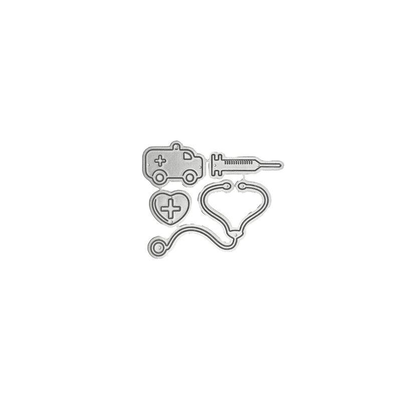 Metal Cutting Dies Cartoon medical Ambulance Injector Echometer cut die for DIY Scrapbooking Crafts new 2019 Embossing Die Cuts in Cutting Dies from Home Garden