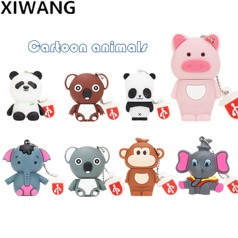 Cartoon Pendrive 16gb 128gb 8gb 4gb Personalized Usb Stick 2.0 Panda Usb Flash Drive 32gb Pen Drive 64gb Wholesale Free Shipping
