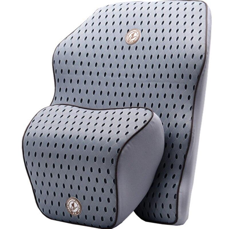 3D Mesh Car Pillow Car Seat Cushion Lumbar Support Back