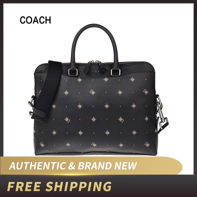 """Authentic Original & Brand New   Coach Men's PRNT Slim Business Briefcase Bag F76827"""