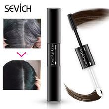 Sevich Hair Dye Stick Instant Cover Up Root Instant Gray Coverage Hair Color Modify Cream Hair Black Brown Hair Dye Pen 7ml