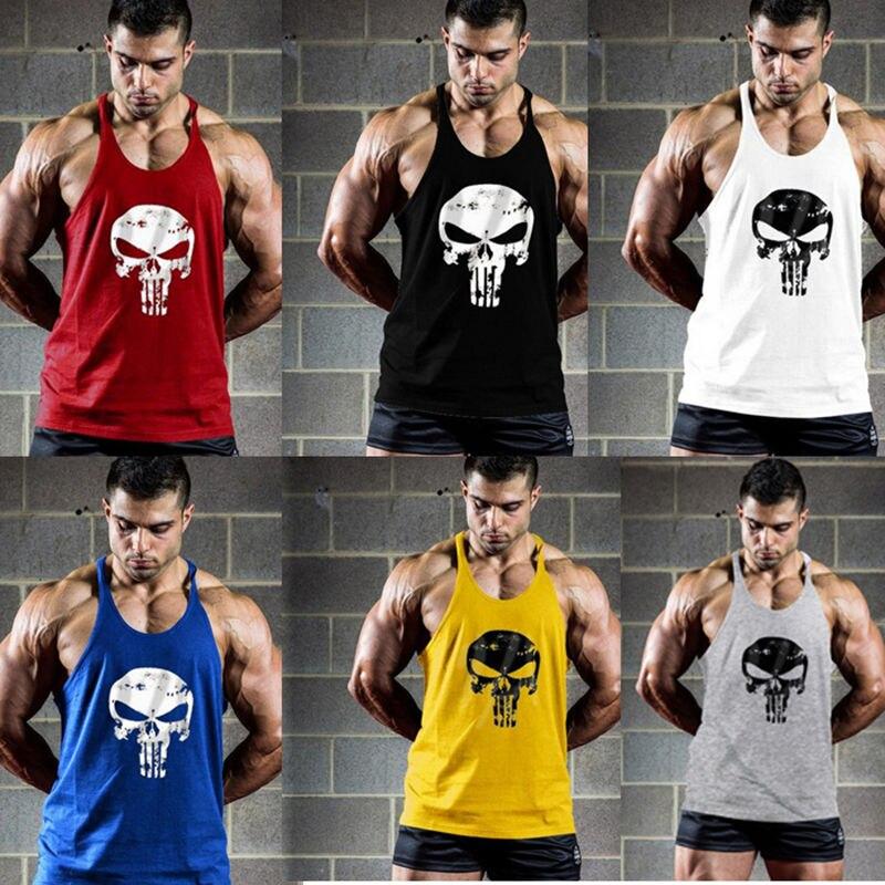 New Summer Running Vest Men Cotton Mesh Bodybuilding Undershirt Fitness Sleeveless Vest Gym Tank Top Men Sports Vest Clothing