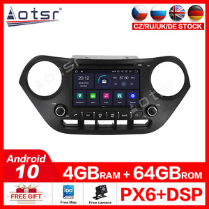 For Hyundai i10 2013-2015 Car stereo radio tape recorder Android 10.0 GPS navigation Car DVD Multimedia Car DVD Player Video map