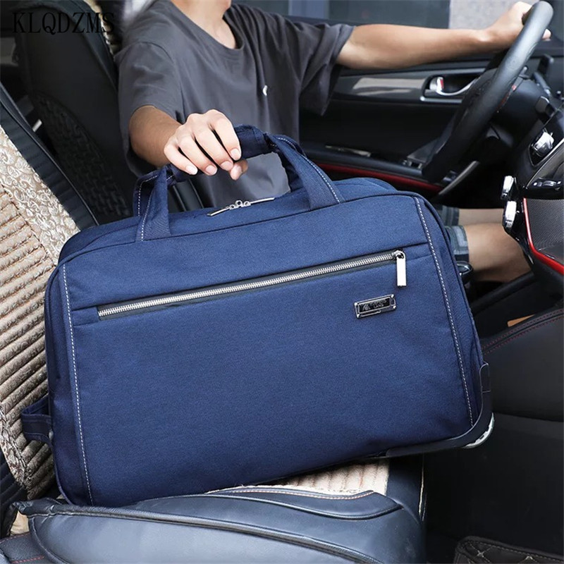 KLQDZMS 20''24 Inch Oxford   Exquisite Travel Bag Sports Backpack Carry on Spinner Wheels Luggage Detachable Portable Suitcase