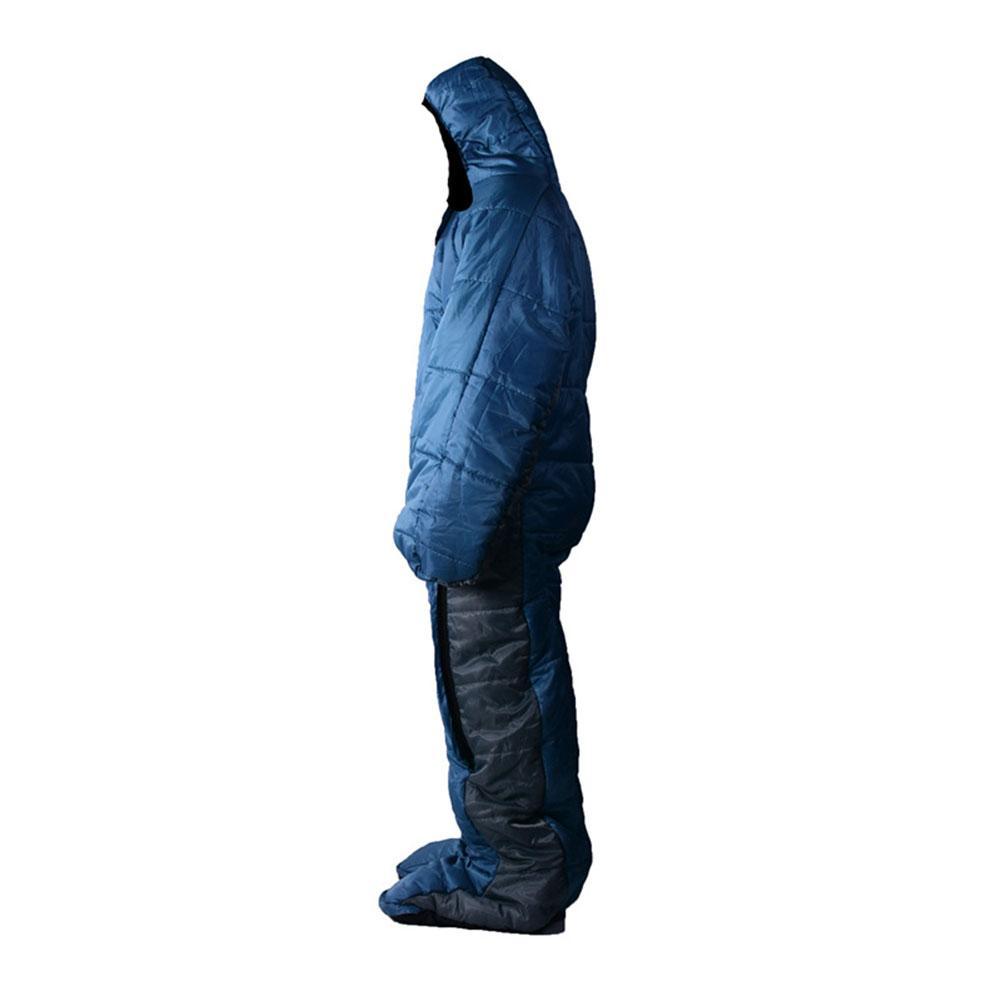 Спальный мешок в форме человека, зимний теплый удобный спальный мешок на молнии, спальный мешок для палаток, походов, походов - 3