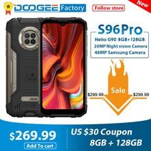 Смартфон DOOGEE S96 Pro, 48 МП, камера 20 МП, инфракрасное ночное видение, экран 6,22 дюйма, Восьмиядерный процессор Helio G90, 8 ГБ + 128 ГБ, 6350 мАч, прочный тел...