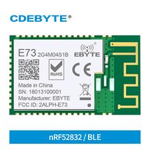 NRF52832 2 4GHz BLE 4 2 5 0 Port IO 4dBm SMD PCB IPEX antena Ebyte E73-2G4M04S1B moduł CE FCC RoHs certyfikowany tanie tanio CDEBYTE CN (pochodzenie) 2379~2496 MHz 2 379~2 496GHz BLE 4 2 5 0 0 1km 1 8±0 1g