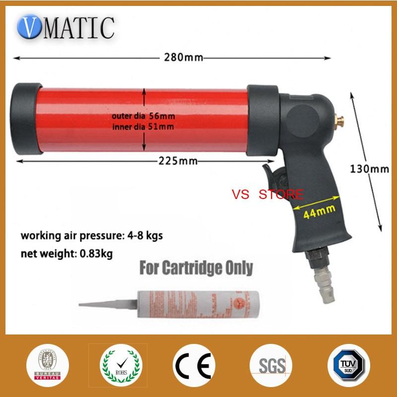Free Shipping 310ml/cc  Adhesive Pneumatic Dispensing Caulking Gun With Plastic Cartridge