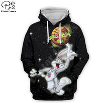 PLstar Cosmos Anime Bugs Bunny colorful cartoon tracksuit newfashion 3DPrint Hoodie/Sweatshirt/Jacket/shirts Men Women funny s11
