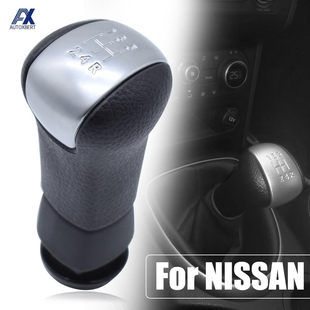 Car Styling 5 Speed Manual Gear Shift Knob Shifter Lever Pen Head Ball For NISSAN QASHQAI NJ10 +2 X-Trail 2008-2013