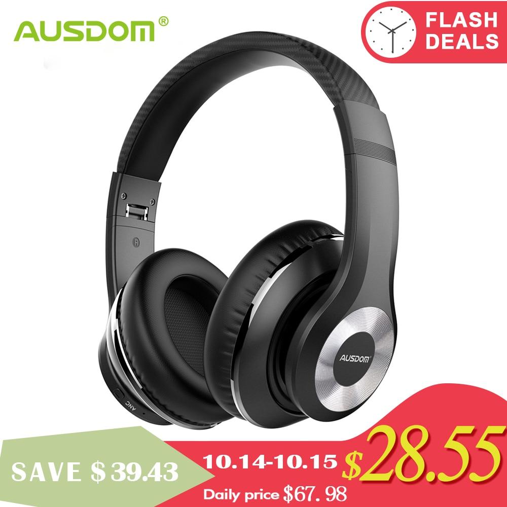 Ausdom ANC10 Aktive Noise Cancelling Bluetooth Drahtlose Kopfhörer Faltbare 20H Spielen zeit Hifi Tiefe Bass Bluetooth Headset