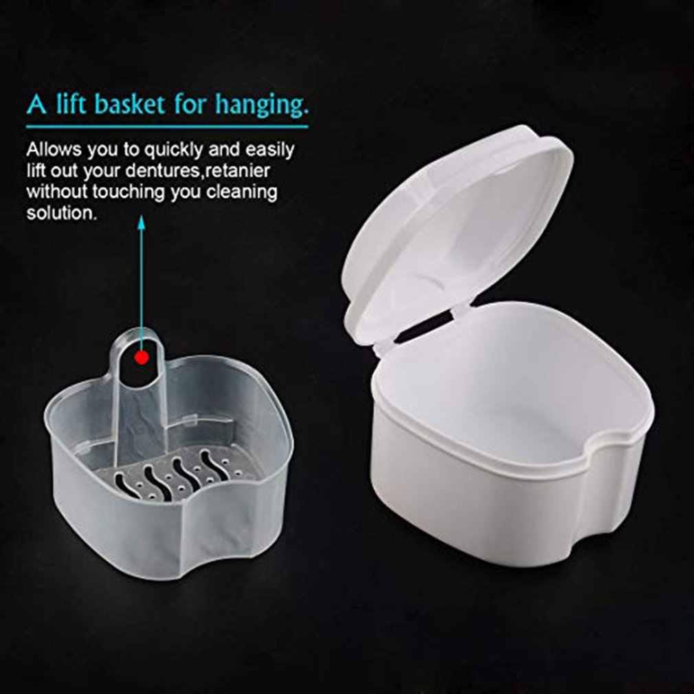 Пластиковый ящик для хранения удобный протез банный ящик Чехол Стоматологическая ложная коробка для хранения зубов с висячая сетка контейнер