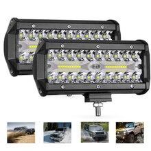 цена на 400W Light Bar/Work Light Spotlight LED Light Bar for Truck Driving Offroad Boat Car Tractor 4x4 SUV ATV 12V 24V 7 inch LED Bar