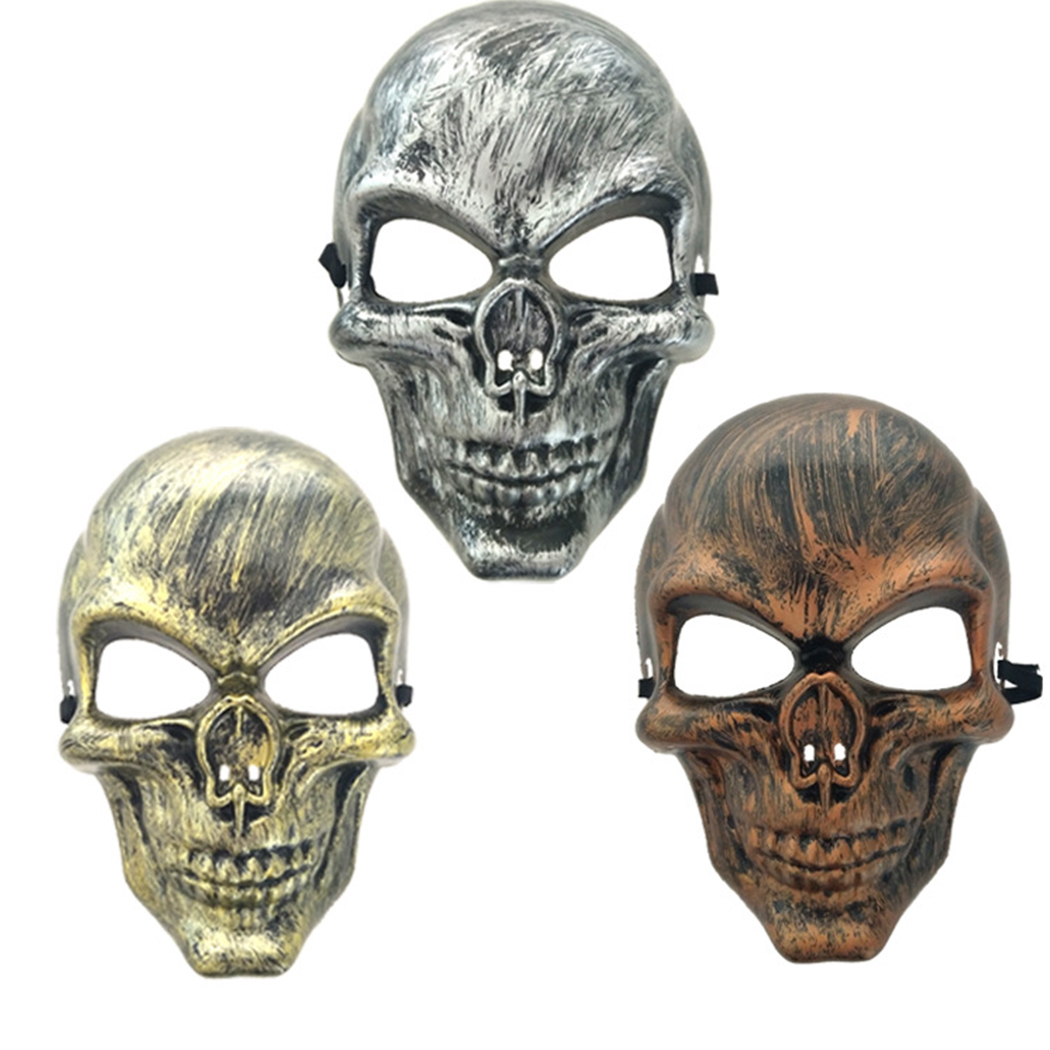 Festival Skull Mask Halloween Mask Horrible Skeleton Head Full Face Mask Costume Party Masks For Kids Children Adult Women Men