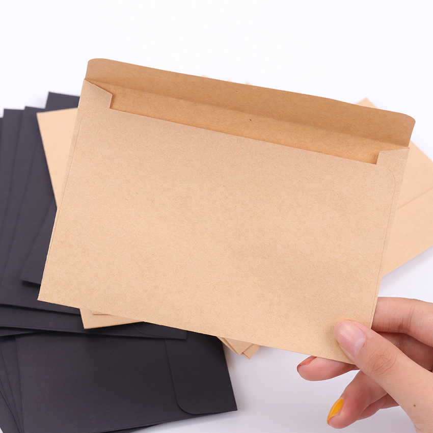 10pcs/Pack Vintage Large Envelope Postcard Letter Stationery Paper Airmail Retro School Office Gifts Kraft Envelopes
