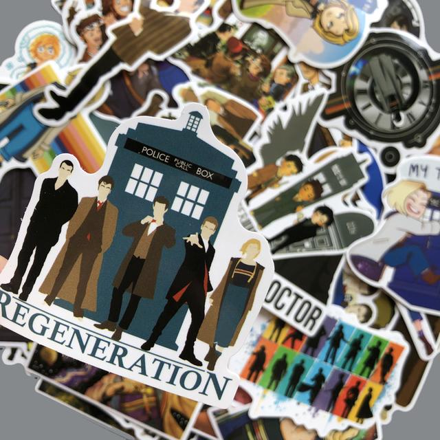 New Doctor Who tardis Stickers Sets Anime Sticker Lot For Laptop Bicycle Phone Guitar Marvel Cartoon Stickers Pack 2019