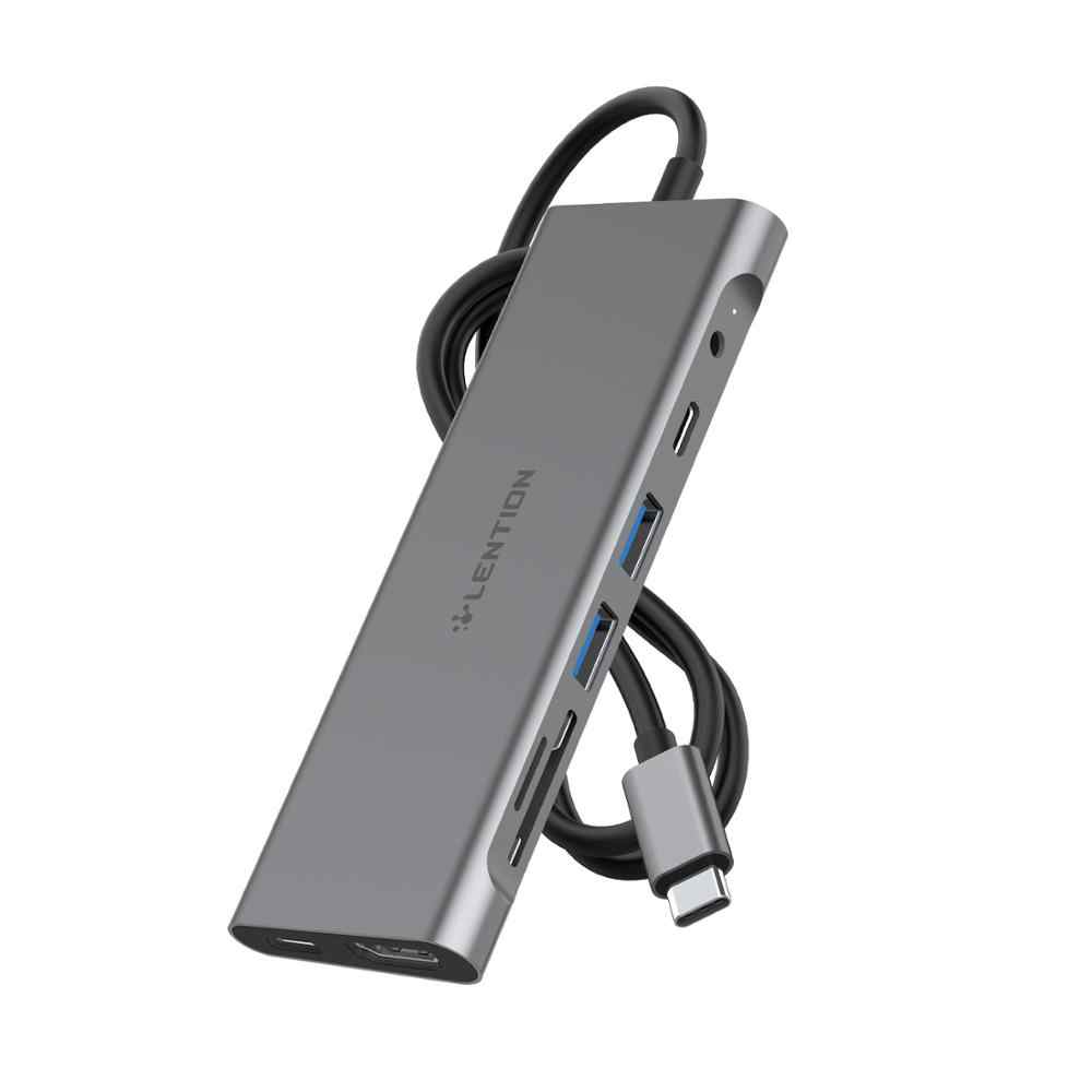 Długi kabel USB C Hub z 4K HDMI, 2 USB 3.0, 3.5mm audio, typ C Adapter do ładowania dla MacBook Pro 13/15/16 (Port Thunderbolt 3)