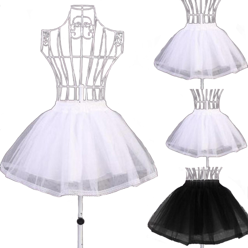 Fashion Lady Short Skirt Slim Soft Lace Side Sexy Tulle Skirt Crinoline Petticoat Tutu Skirt Bride Wedding Clothes Skirt