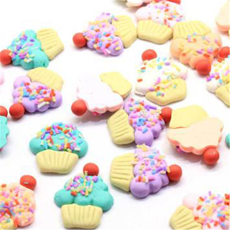 10Pcs 3D DIY Slime Small Cake Soft Pottery Addition Soft Fimo Slices Strawberryslime Fluffy Lizun Mobile Slime Accessories Gift