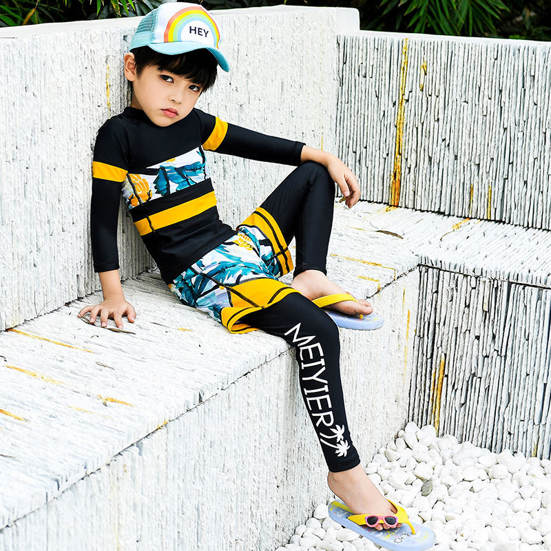 2019 New Style Children Diving Suit Men And Women Children Outdoor Long Sleeve Siamese Swimsuit Sun-resistant Swimwear 961/971