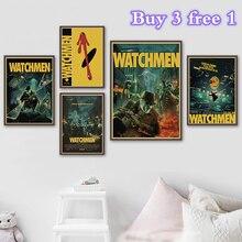 Reloj de ciencia ficción película Vintage Retro Kraft cartel para pared decorativa lona pegatina Home Bar arte Posters