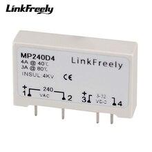 цена на MP240D4 10pcs SPST PCB Solid State Relay 4 Pin DC AC PLC SSR 24V-280VAC Out In 3V 3.3V 5V 12V 24VDC Voltage Relay Switch Module