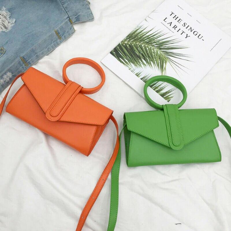 New Arrival Women Pu Leather Cross-Body Bag Magnetic Buckle Simple Shoulder Bag Small Fresh Messenger Bag Ladies Cross-Body Bag