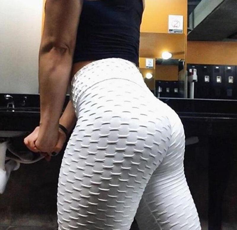 Women High Waist Push Up Leggings Yoga Pants Anti Cellulite Sport Booty Trousers