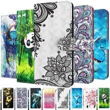 Cute Animal Flower Phone Case For Samsung Galaxy A01 Core A02S A11 A12 A21S A21S A31 A32 A41 A42 A51 A71 A52 A72 5G Flip Cover