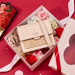 FOXER Women's Split Leather Crossbody Shoulder Bag 2020 Fashion Small Lady Flap Purse Female Bag Valentine Present Gift for Girl