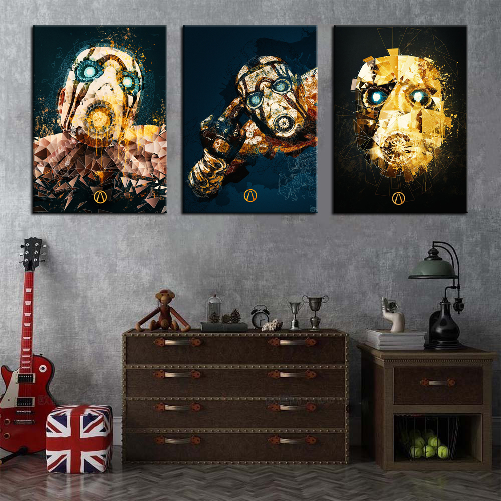 Unframed 1 Piece <font><b>Borderlands</b></font> 3 Video Game Posters Oil Painting on Canvas Wall Stickers HD Print Artwork for Home Decor image