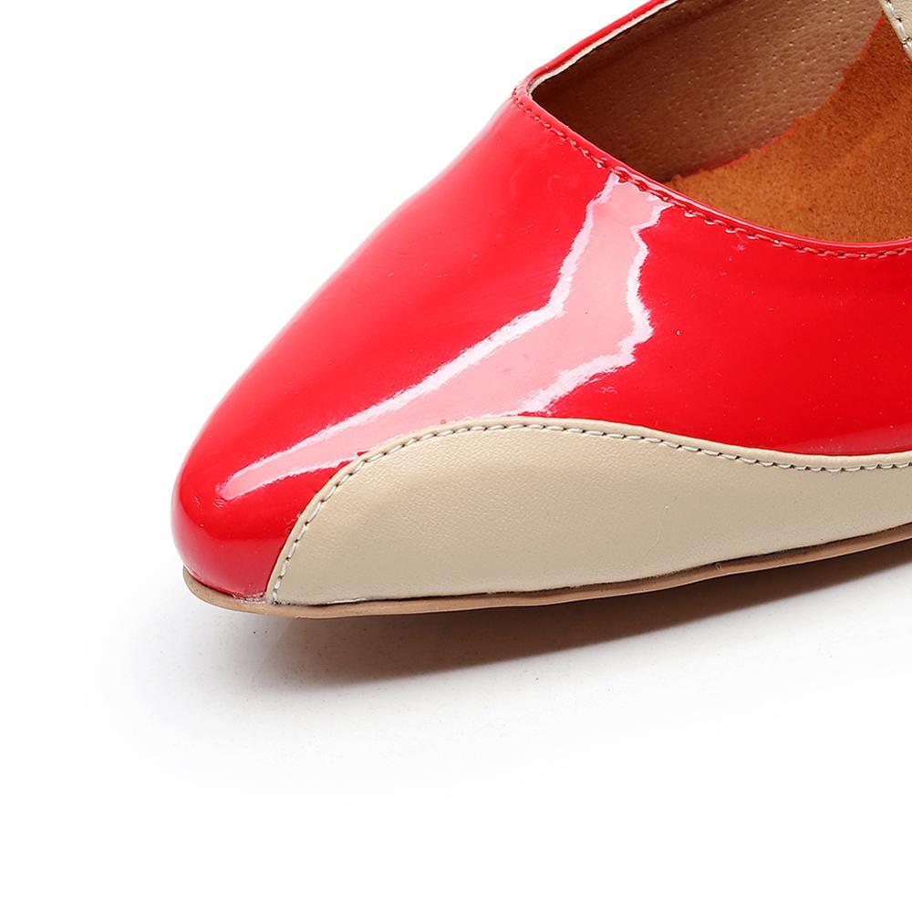 Купить с кэшбэком PU stitching color jazz ballroom Latin dance shoes for dancing women training modern Tango Samba Latina summer sandals
