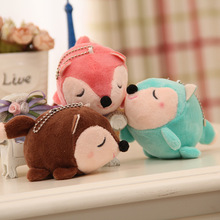 Cartoon cute new squirrel plush toy doll mouse keychain gift baby