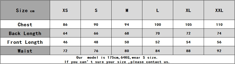 短袖尺码表(灰