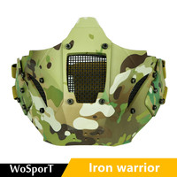 Iron Samurai Mask Field Military War Game Protective Mask Tactical Mask Airsoft Paintball Hunting Mask Tactical Combat Half Mask
