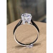 Custom Made 9K White Gold Creative design Moissanite Ring 4 claws Engagement HW English Alphabet VVS1